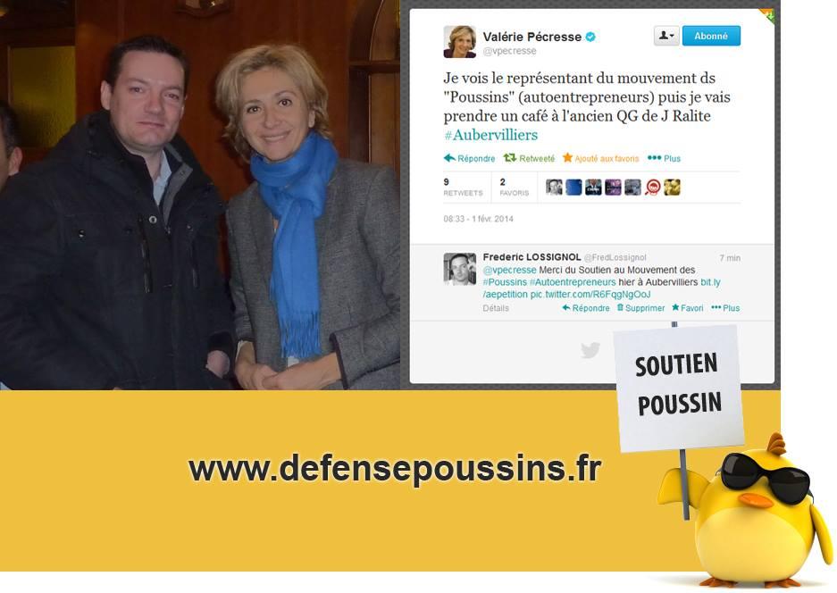 Valérie Pecresse et Frédéric Lossignol à Aubervilliers au sujet du régime Autoentrepreneur